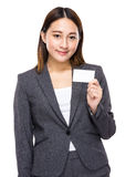 Businesswoman hold with name card Royalty Free Stock Photo
