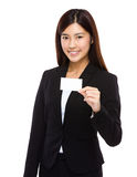 Businesswoman hold namecard Royalty Free Stock Photo