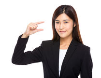 Businesswoman hold with small thing Stock Photos