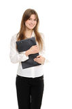 Businesswoman Holding A Folder Royalty Free Stock Photography