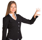Businesswoman holding anything in his hand Stock Photos