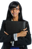 Businesswoman Holding Binder Stock Image