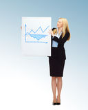 Businesswoman holding board with graph Royalty Free Stock Photo