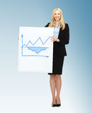 Businesswoman holding board with graph Stock Images