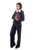 Businesswoman holding book Royalty Free Stock Images