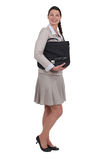 Businesswoman holding a briefcase Stock Photography