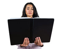 Businesswoman holding a business ledger Stock Image