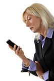 Businesswoman holding a cell Stock Image