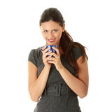 Businesswoman holding coffee cup Royalty Free Stock Photo