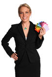 Businesswoman Holding Color Swatches Royalty Free Stock Photos