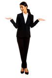 Businesswoman holding copyspace Royalty Free Stock Photography