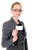Businesswoman Holding Credit Card. Stock Photography