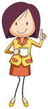 Businesswoman holding a cup of coffee Stock Images