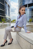 Businesswoman holding a cup of coffee Royalty Free Stock Image