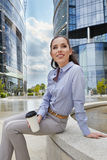 Businesswoman holding a cup of coffee Royalty Free Stock Images