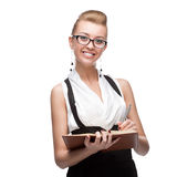 Businesswoman holding diary Royalty Free Stock Image