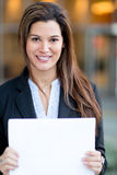 Businesswoman holding documents Stock Photography