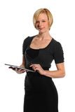 Businesswoman Holding Electronic Pad Royalty Free Stock Image
