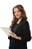 Businesswoman Holding Electronic Tablet Stock Image