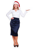 Businesswoman holding empty copyspace Royalty Free Stock Photo