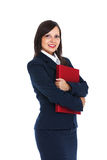 Businesswoman holding files Royalty Free Stock Photo
