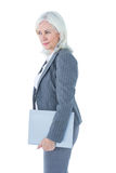 Businesswoman holding files Stock Image