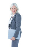 Businesswoman holding files Stock Photography