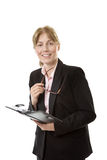 Businesswoman holding a filofax Royalty Free Stock Photo