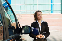 Business woman with a folder Stock Photography