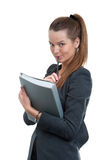 Businesswoman holding a folder Stock Image