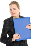 Businesswoman holding a folder Royalty Free Stock Image