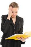 Businesswoman holding a folder Royalty Free Stock Photo
