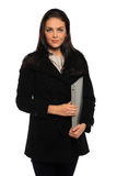 Businesswoman Holding Folder Stock Images