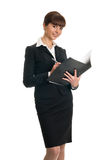Businesswoman holding folder Royalty Free Stock Photos