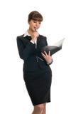 businesswoman holding folder Royalty Free Stock Photos
