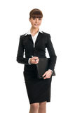 Businesswoman holding folder Royalty Free Stock Photography