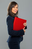 Businesswoman holding folders Royalty Free Stock Images