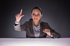 The businesswoman holding hands in business concept Stock Photos