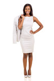 Businesswoman holding her coat Royalty Free Stock Images