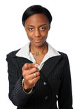 Businesswoman Holding Key Royalty Free Stock Images