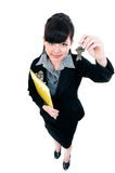 Businesswoman Holding Keys Stock Image