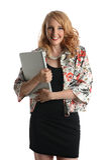 Businesswoman Holding Laptop Royalty Free Stock Photo