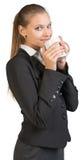 Businesswoman holding mug Stock Photos