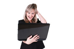 Businesswoman holding notebook Stock Photography