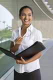 Businesswoman Holding Daily Organizer Royalty Free Stock Image