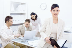 Businesswoman holding organizer Stock Photos