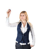 Businesswoman holding a pen Stock Image