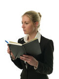 Businesswoman holding a personal organizer Royalty Free Stock Image