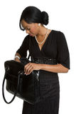 Businesswoman Holding Purse Royalty Free Stock Photos