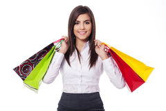 Businesswoman on shopping Stock Image